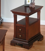 Jofran 299-7 MINIATURES - REGAL CHERRY FINISH CHAIRSIDE TABLE with SHELF AND DRAWER