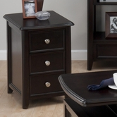 Jofran 319-7 CORRANADO ESPRESSO FINISH CHAIRSIDE TABLE with 2 DRAWERS (1 DOUBLE DEEP) - SHIPPED ASSEMBLED