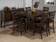Jofran 337-54B-T-4xBS923KD TAYLOR CHERRY FINISH COUNTER HEIGHT TABLE SET