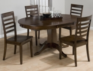 Jofran 342-60B-T-4X912KD TAYLOR CHERRY FINISH CENTER PEDESTAL TABLE SET