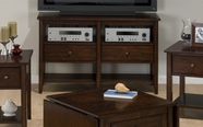 Jofran 354-9 MINIATURES - NEWPORT CHERRY FINISH MEDIA/SOFA with 2 DRAWERS AND 2 SHELVES