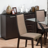 Jofran 357-95 MIDTOWN ESPRESSO FINISH SERVER with 2 DOORS AND 4 DRAWERS