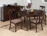 Jofran 369-66-4X563KD CORSICA CHERRY FINISH SHAPED ROUND TABLE SET