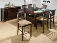 Jofran 373-55B-T-4XBS711KD BAKER'S CHERRY FINISH COUNTER HEIGHT TABLE SET