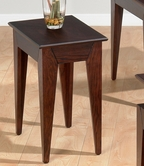Jofran 401-7 ALBION OAK FINISH CHAIRSIDE with FANCY OAK VENEER TOP