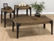 Jofran 406-1-3-7 TIMBER ELM FINISH OCCASIONAL TABLE SET