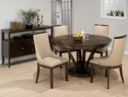 Jofran 417-53B-T-4x679KD WEBBER WALNUT FINISH REVERSE SPLAY TABLE DINING SET
