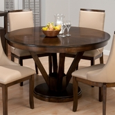 Jofran 417-53B-T WEBBER WALNUT FINISH REVERSE SPLAY TABLE