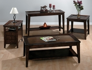 Jofran 428-1-3-7 CHESTNUT BROWN FINISH OCCASIONAL TABLE SET