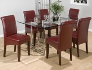 Jofran 42B-G-4x482KD CARLSBAD CHERRY FINISH CHROME TABLE SET