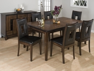 Jofran 431-72-4x516KD AMES OAK FINISH RECTANGLE BUTTERFLY LEAF TABLE DINING SET