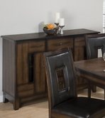 Jofran 431-95 AMES OAK FINISH SERVER with 4 DRAWERS AND 2 DOORS
