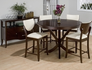Jofran 433-54-4xBS406KD SATIN WALNUT FINISH COUNTER HEIGHT ROUND TABLE SET