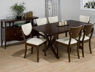 Jofran 433-72B-T-4X406KD SATIN WALNUT FINISH RECTANGLE TABLE SET