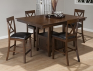 Jofran 439-60B-T-4XBS103KD OLSEN OAK FINISH COUNTER HEIGHT RECTANGLE TABLE SET