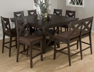 Jofran 453-60B-T-4XBS451KD MORGAN ESPRESSO FINISH COUNTER HEIGHT TABLE SET