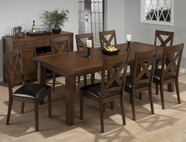 Jofran 461-96-4X826KD CIRRUS OAK FINISH RECTANGLE TABLE SET