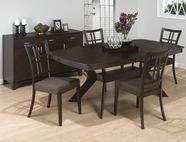 Jofran 471-78B-T-4x234KD RYDER ASH FINISH RECTANGLE BUTTERFLY LEAF TABLE SET
