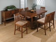 Jofran 477-72B-T-4XBS490KD SADDLE BROWN OAK FINISH COUNTER HEIGHT TABLE SET