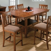 Jofran 477-72B-T Saddle Brown Oak Finish Counter Height Table