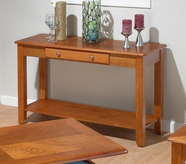 Jofran 480-4 SEDONA OAK FINISH SOFA TABLE with DRAWER AND SHELF