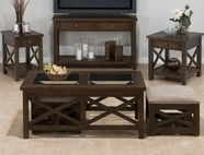 Jofran 482-1-3-4-7 XAVIER BIRCH FINISH OCCASIONAL TABLE SET
