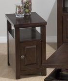 Jofran 484-7 OGDEN OAK FINISH CHAIRSIDE TABLE with DOOR (ASSEMBLED)