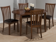 Jofran 487-54 BOWSER BIRCH FINISH ROUND TO OVAL TABLE with TAKE OUT LEAF