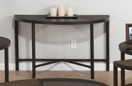 Jofran 506-4 ROSWELL STONE FINISH SOFA TABLE with TEMPERED GLASS, SYNTHETIC STONE AND STEEL