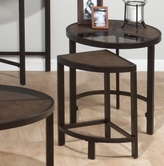 Jofran 506-7 ROSWELL STONE FINISH NESTING TABLES with TEMPERED GLASS, SYNTHETIC STONE AND STEEL