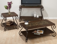 Jofran 566-1-3-4 BARCELONA BROWN FINISH OCCASIONAL TABLE SET