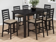 Jofran 596-36-4XBS932KD BONN BLACK FINISH COUNTER HEIGHT RECTANGLE PARSON TABLE SET