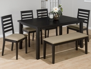 Jofran 596-60-4X932KD BONN BLACK FINISH RECTANGLE PARSON TABLE SET