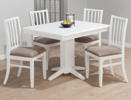 Jofran 625-44B-T-4X323KD ASPEN WHITE FINISH RECTANGLE FIXED TABLE SET