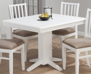 Jofran 625-44B-T ASPEN WHITE FINISH RECTANGLE FIXED TABLE