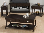 Jofran 629-1-3-4-7 MANHATTAN ESPRESSO FINISH OCCASIONAL TABLE SET
