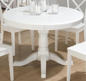 Jofran 662-66B-T CASPER WHITE FINISH ROUND TO OVAL BUTTERFLY LEAF TABLE