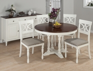 Jofran 693-48-4x154KD CHESTERFIELD TAVERN ROUND TO OVAL BUTTERFLY LEAF TABLE SET