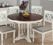 Jofran 693-48 CHESTERFIELD TAVERN ROUND TO OVAL BUTTERFLY LEAF TABLE, PEDESTAL BASE with 4 FLUTED LEGS