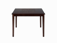 Jofran 697-50 BAROQUE BROWN FINISH COUNTER HEIGHT SQUARE TABLE with FIXED TOP AND MOSAIC INLAY
