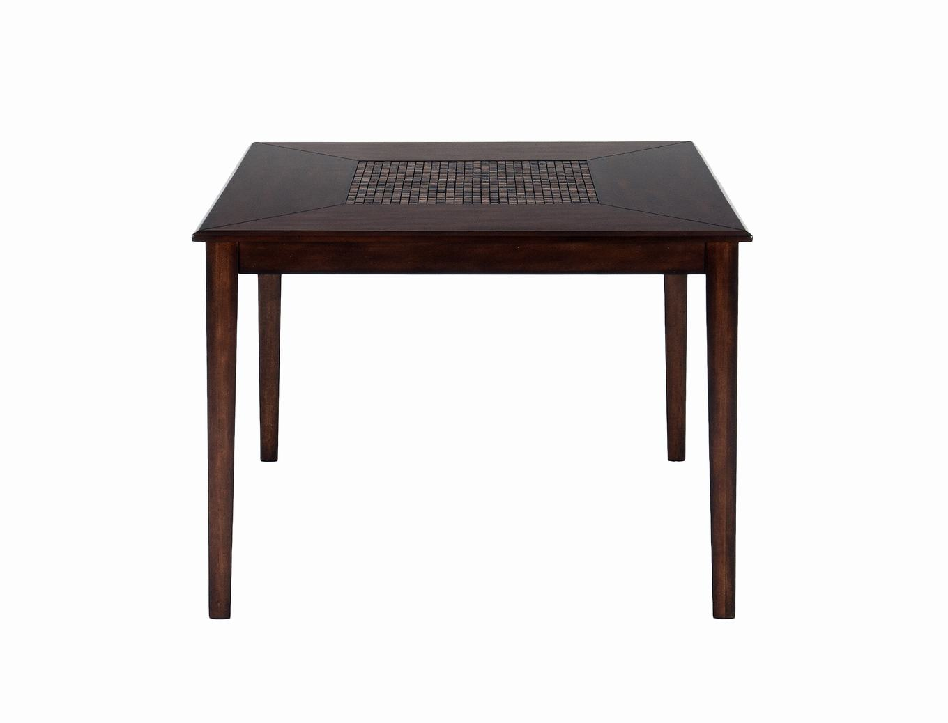 Finish Counter Height Square Table With Fixed Top And Mosaic Inlay