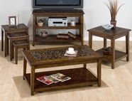 Jofran 698-1-3-4-7 BAROQUE BROWN FINISH OCCASIONAL TABLE SET