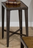 Jofran 703-7 GLENNA ELM AND BLACK METAL FINISH CHAIRSIDE TABLE with FAUX ANTIQUE ASH
