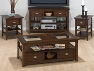 Jofran 709-1-3-7-9 BELLINGHAM BROWN FINISH OCCASIONAL TABLE SET