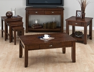 Jofran 731-4 Urban Lodge Brown Finish Sofa/Media Unit With 2 Drawers And Shelf