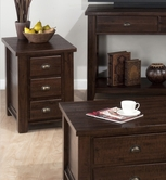 Jofran 731-8 URBAN LODGE BROWN FINISH CHAIRSIDE with 3 DRAWERS