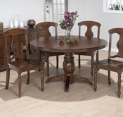 "Jofran 733-52B-T URBAN LODGE FINISH RUSTIC HEWN 52"" ROUND FIXED-TABLE"