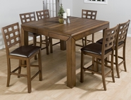 Jofran 737-54-4XBS222KD WENATCHEE FALLS WALNUT FINISH COUNTER HEIGHT TABLE SET