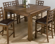 Jofran 737-54 Wenatchee Falls Walnut Finish Counter Height 40Mm Butterfly Leaf Table With 85Mm Apron And 110Mm Legs