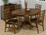 Jofran 737-66B-T-4X222KD WENATCHEE FALLS WALNUT FINISH ROUND TO OVAL TABLE SET